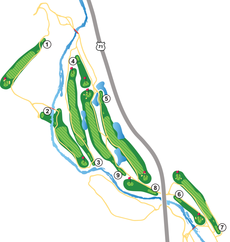 Berksdale Golf Course Layout