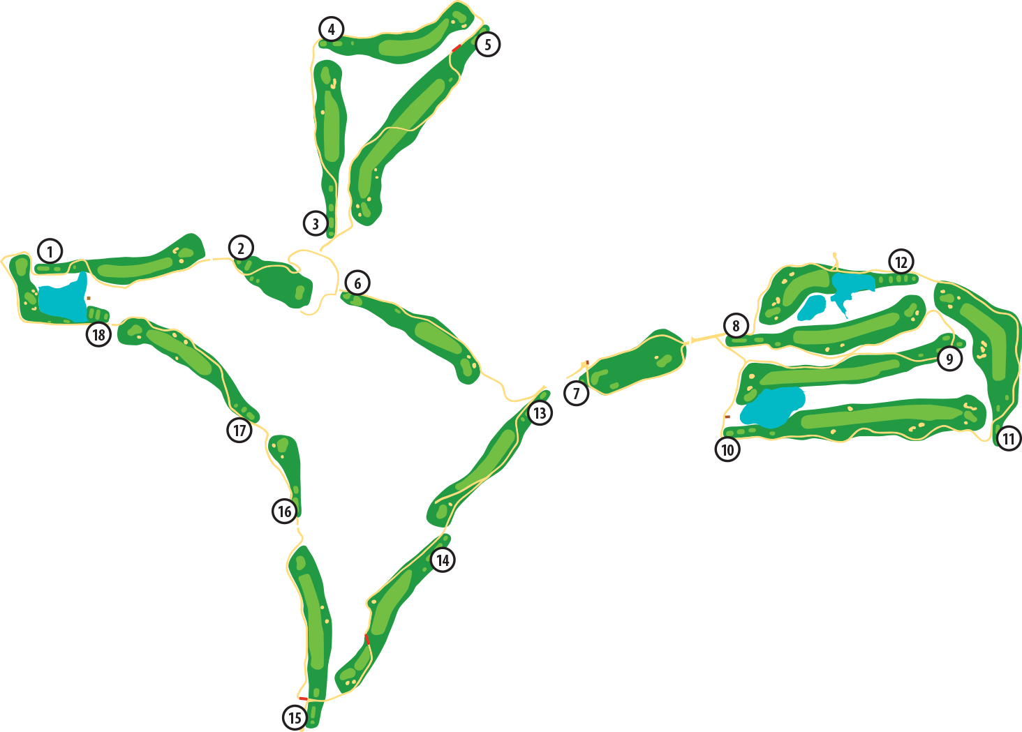 Dogwood Golf Course Layout