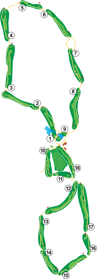 Highlands Golf Course Layout