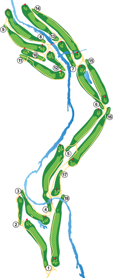 Kingswood Golf Course Layout