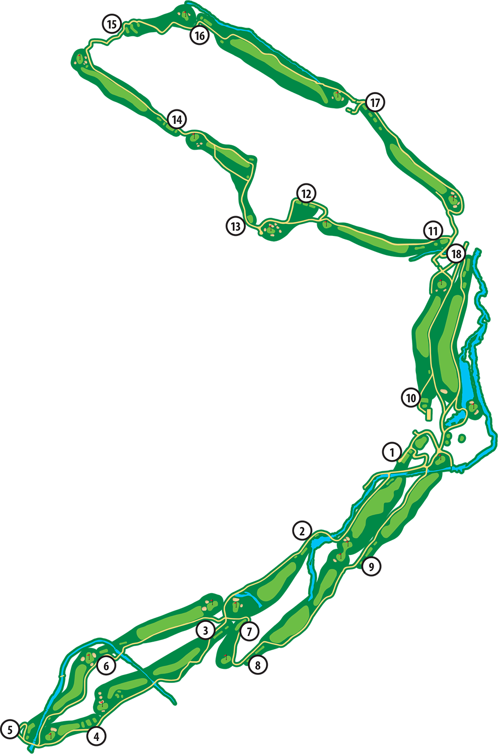 Scotsdale Golf Course Layout