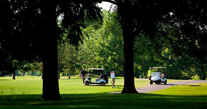 Golfers playing a round at Berksdale Golf Course