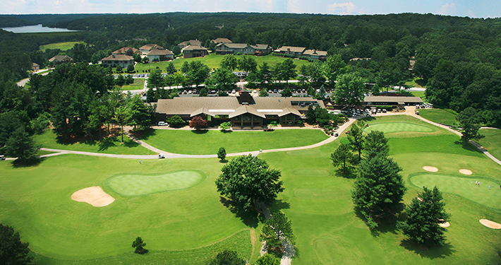 An aerial view of Country Club Golf Course