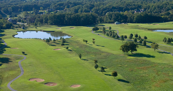 An aerial view of Dogwood Golf Course