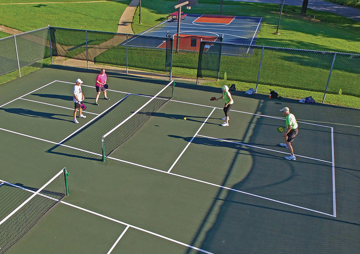 Additional outdoor courts at Metfield with shade cover. Also, repair of flooring at Branchwood for indoor pickleball and racquet ball.