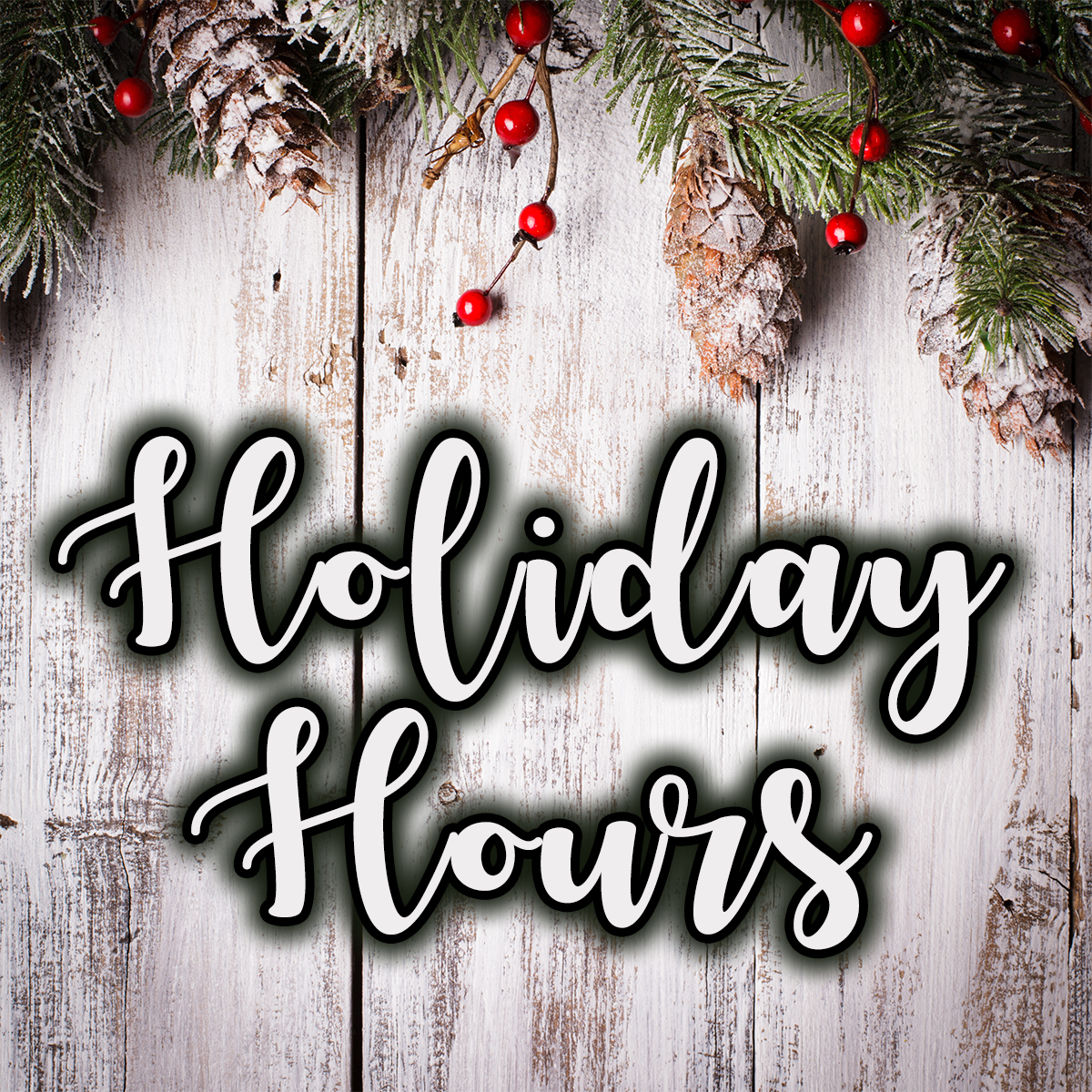 Christmas Hours.Holiday Hours Christmas Bella Vista Property Owners