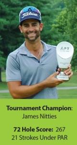 James Nitties with APT trophy