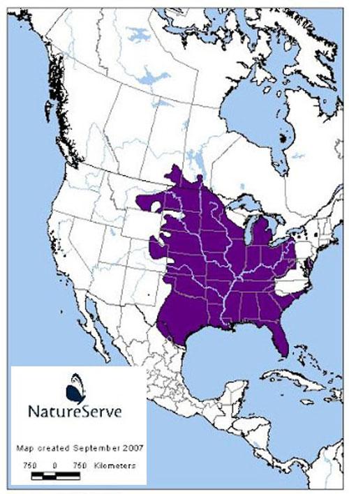 Range map of United States