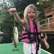Brookyln and her first catch!